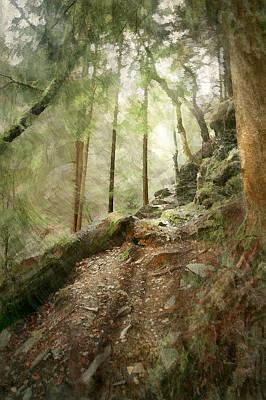 Cavern Walk ..... Art Print by Richie Dean