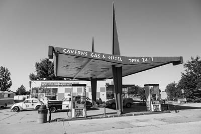 Photograph - Caverns Gas Station Route 66 by John McGraw