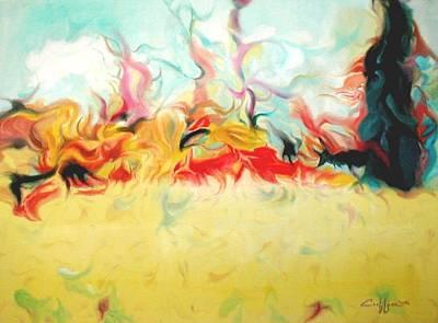 Cavescape Art Print by G Cuffia
