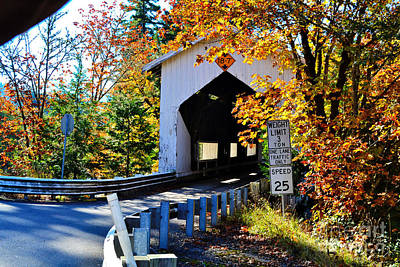 Photograph - Cavitt Bridge Autumn by Ansel Price
