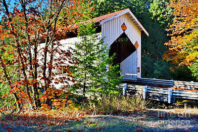 Photograph - Cavitt Covered Bridge by Ansel Price