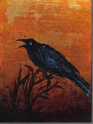 Painting - Caw by Cindy Johnston