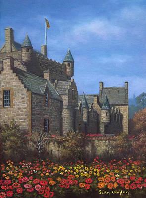 Cawdor Castle In Summertime Art Print by Sean Conlon