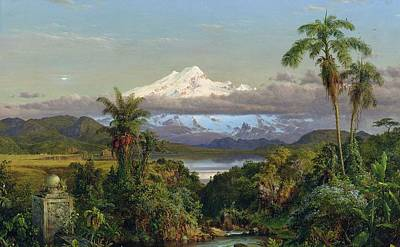 Andes Wall Art - Painting - Cayambe by Frederic Edwin Church