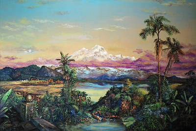 Painting - Cayambe-ish by David Bader