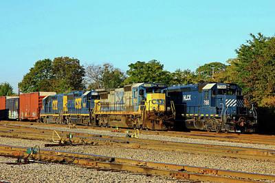 Photograph - Cayce South Carolina Trains 2 by Joseph C Hinson Photography