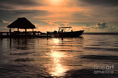Photograph - Caye Caulker At Sunset by Lawrence Burry