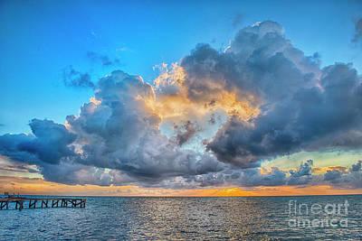 Photograph - Caye Caulker Beautiful Sunrise by David Zanzinger