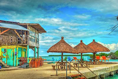 Photograph - Caye Caulker Belize Split by David Zanzinger
