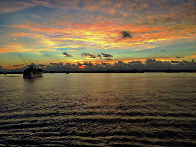 Photograph - Cayman Islands Sunrise by Anthony Dezenzio
