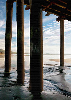 Digital Art - Cayucos Pier by Sharon Foster