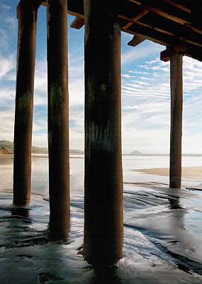 Pier Digital Art - Cayucos Pier by Sharon Foster