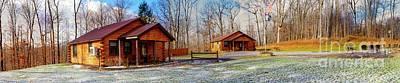Photograph - Cayuga Lake Cabins Winter by William Norton