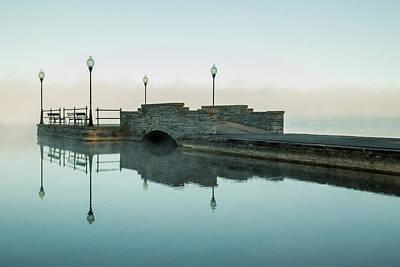 Photograph - Cazenovia Lake On A Misty Morning by Brooke T Ryan