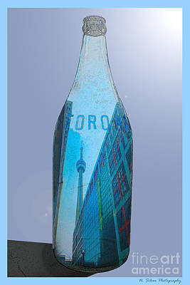 Photograph - Cbc And The Cn Tower In A Bottle by Nina Silver