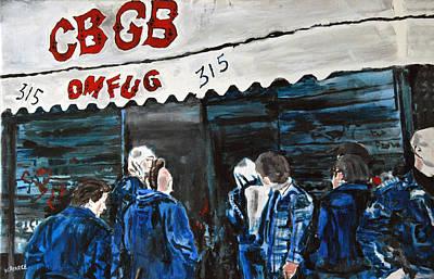 Wall Art - Painting - Cbgb by Wayne Pearce