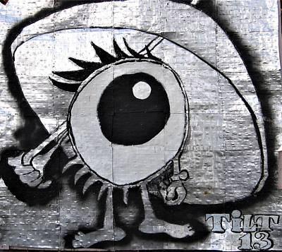 Mixed Media - Cbs Eye by William Tilton