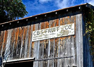 Photograph - Cbs Fruit Co. by Tana Reiff