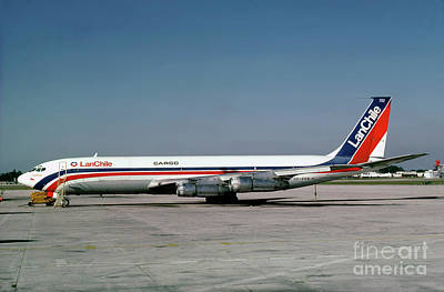 Fixed Wing Multi Engine Photograph - Cc-ceb, Boeing 707-385c, Lan Chile Cargo, Jt3d-3b S2, Jt3d by Wernher Krutein