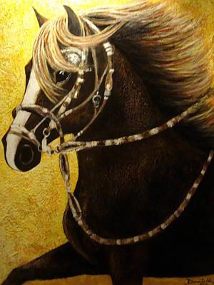 Peruvian Horse Painting - Cc Espartano by Daniella Arteaga Vallarino Artist