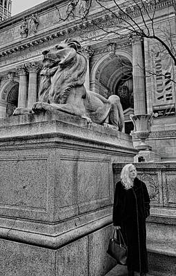 Photograph - Lions Of Nyc by Robert Meyers-Lussier