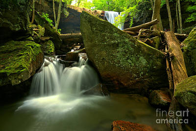 Photograph - Ccumber Falls Canyon Cascades by Adam Jewell