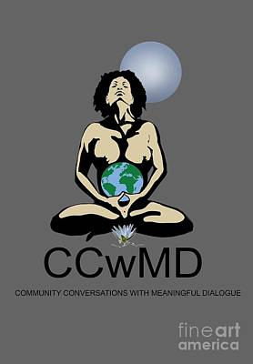 Painting - Ccwmd Logo Tshirt Ready by Reggie Duffie
