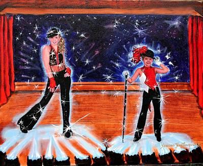Cd Cover Design Jazz Dancers Art Print by Sandra Longmore