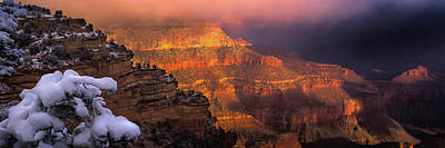 Canyon Dawn Print by Mikes Nature