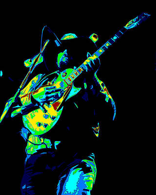 Photograph - Cdb Winterland 12-13-75 #1 Enhanced In Cosmicolors by Ben Upham
