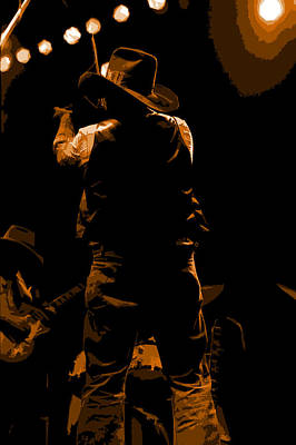 Photograph - Cdb Winterland 12-13-75 #11 Enhanced In Amber by Ben Upham