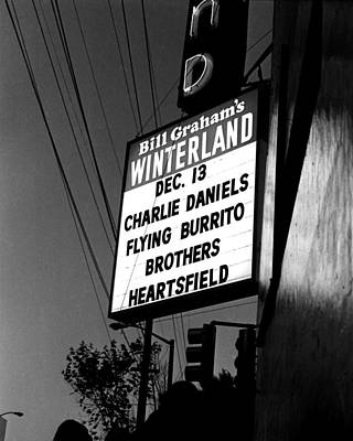 Photograph - Cdb Winterland 12-13-75 #36 by Ben Upham