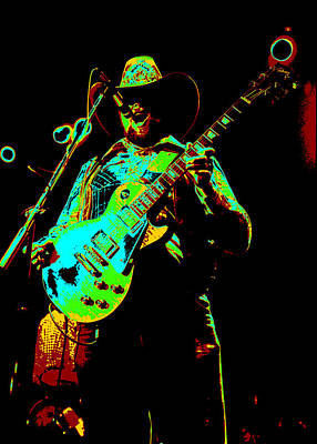 Photograph - Cdb Winterland 12-13-75 #4 Enhanced In Cosmicolors by Ben Upham