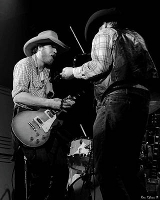 Photograph - Cdb Winterland 12-13-75 #40 Crop 2 Enhanced Bw by Ben Upham