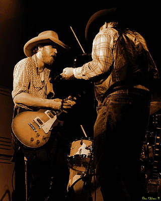 Photograph - Cdb Winterland 12-13-75 #40 Crop 2 Enhanced In Amber by Ben Upham