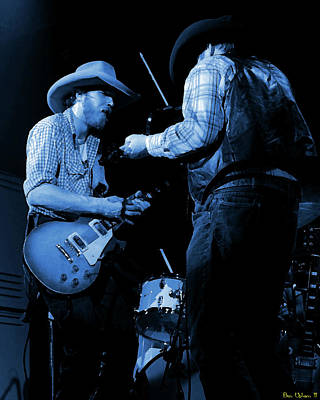 Photograph - Cdb Winterland 12-13-75 #40 Crop 2 Enhanced In Blue by Ben Upham
