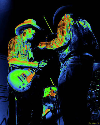 Photograph - Cdb Winterland 12-13-75 #40 Crop 2 Enhanced In Cosmicolors by Ben Upham