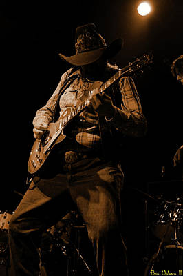 Photograph - Cdb Winterland 12-13-75 #51 Enhanced In Amber by Ben Upham