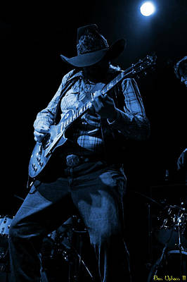 Photograph - Cdb Winterland 12-13-75 #51 Enhanced In Blue by Ben Upham