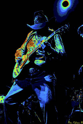 Photograph - Cdb Winterland 12-13-75 #51 Enhanced In Cosmicolors #2 Solarized by Ben Upham