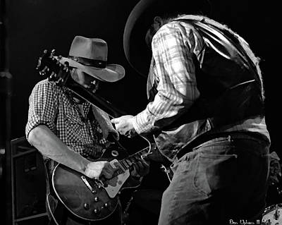 Photograph - Cdb Winterland 12-13-75 #54 Crop 2 Enhanced Bw by Ben Upham
