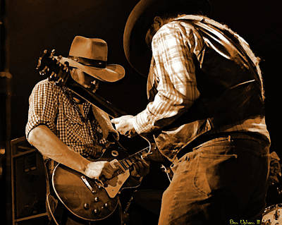 Photograph - Cdb Winterland 12-13-75 #54 Crop 2 Enhanced In Amber by Ben Upham