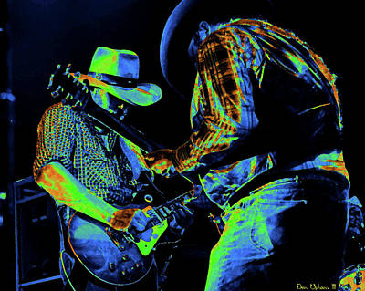 Photograph - Cdb Winterland 12-13-75 #54 Crop 2 Enhanced In Cosmicolors by Ben Upham