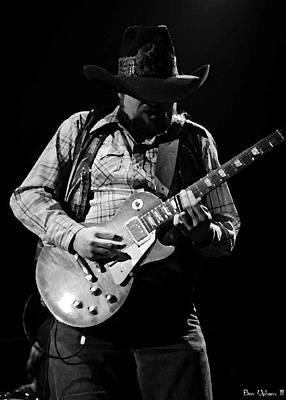 Photograph - Cdb Winterland 12-13-75 #60 Enhanced Bw by Ben Upham