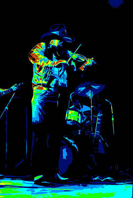 Photograph - Cdb Winterland 12-13-75 #7 Enhanced In Cosmicolors by Ben Upham