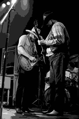 Photograph - Cdb Winterland 12-13-75 #9 Enhanced Bw by Ben Upham