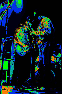 Photograph - Cdb Winterland 12-13-75 #9 Enhanced In Cosmicolors by Ben Upham