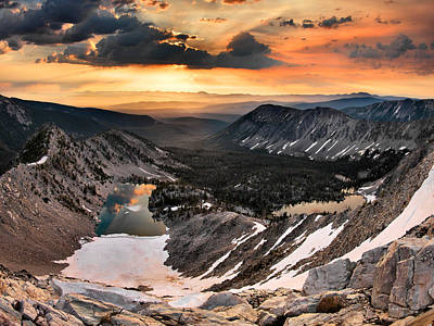 Continental Divide Photograph - Cdt Sunrise by Leland D Howard