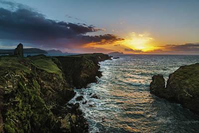 Photograph - Ceann Sibeal Sunset by Florian Walsh
