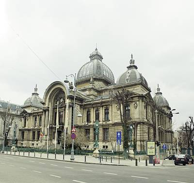 Photograph - Cec Building In Bucharest - Romania by Vlad Baciu